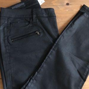 Ann Taylor skinny curvy coated jeans 33R/16 NWT
